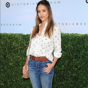 Victoria Beckham bumble bee button up blouse